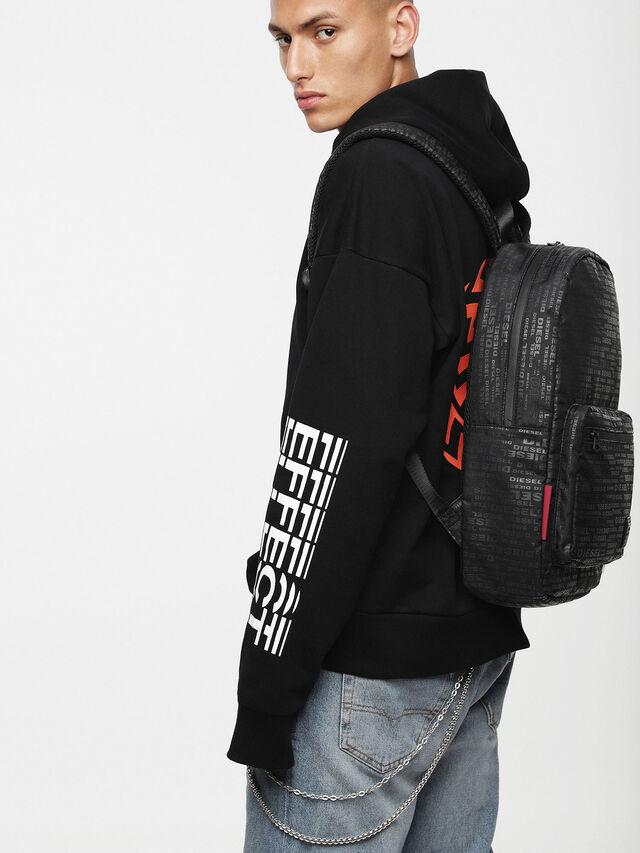 Diesel - F-DISCOVER BACK, Black/Red - Backpacks - Image 4