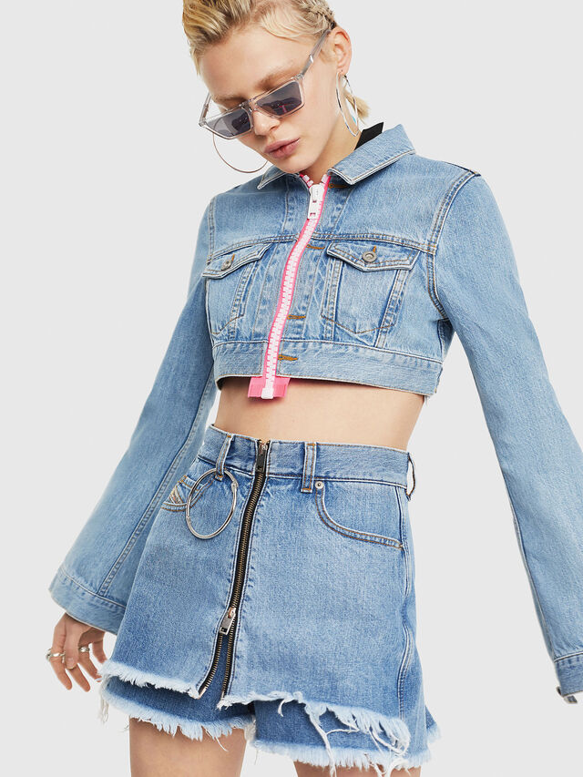 Diesel - DE-ZAUPY-C, Blue Jeans - Denim Jackets - Image 1