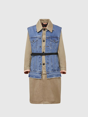 W-CHARIE, Beige/Blue - Winter Jackets