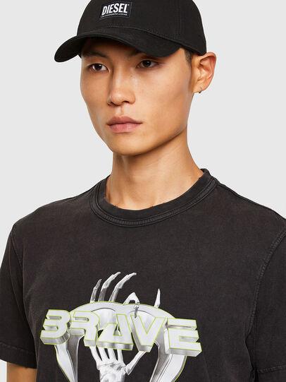 Diesel - T-DIEBIND-SLITS-A2, Black - T-Shirts - Image 3
