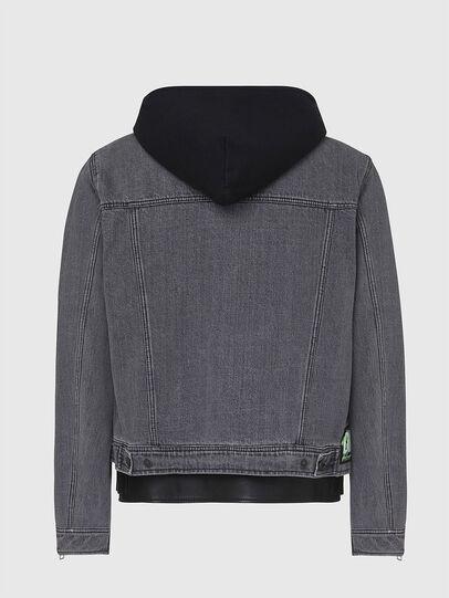 Diesel - L-IVAN, Black - Leather jackets - Image 2
