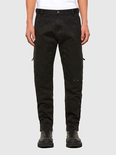 Diesel - P-KOLT, Black - Pants - Image 1