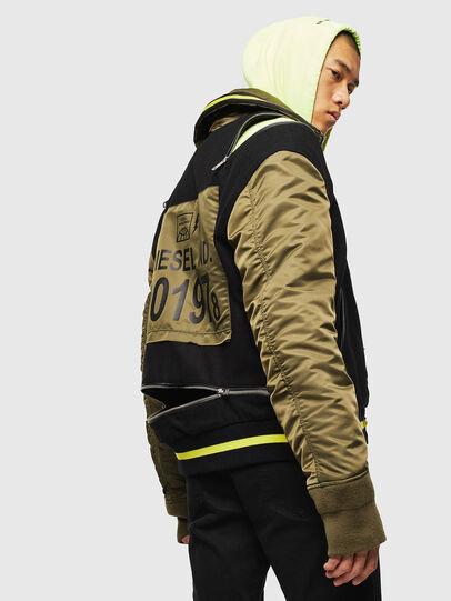 Diesel - W-SHARYN, Black/Green - Winter Jackets - Image 7