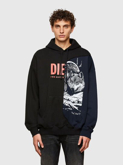 Diesel - S-BLASTY, Blue/Black - Sweaters - Image 1