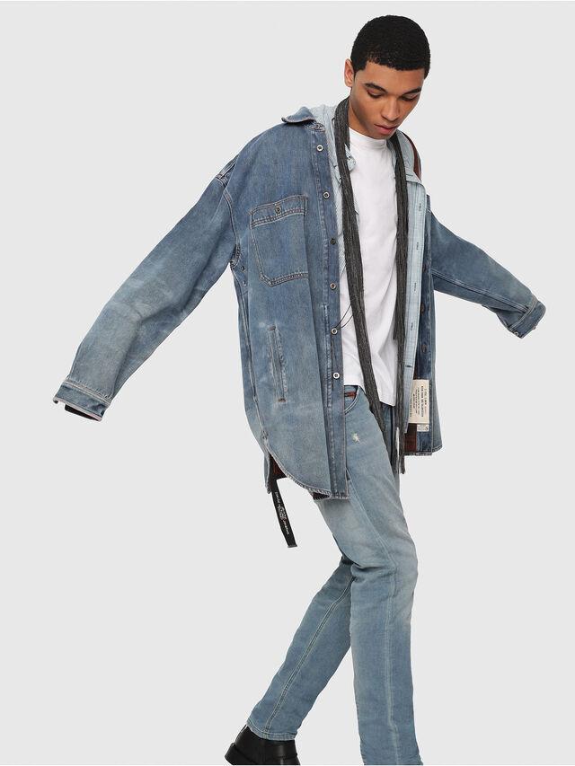 Diesel - Krooley JoggJeans 086AY, Light Blue - Jeans - Image 3