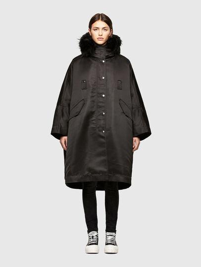 Diesel - W-URSULA-A, Black - Winter Jackets - Image 1
