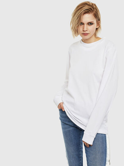 Diesel - T-HUSTY-LS, White - T-Shirts - Image 2