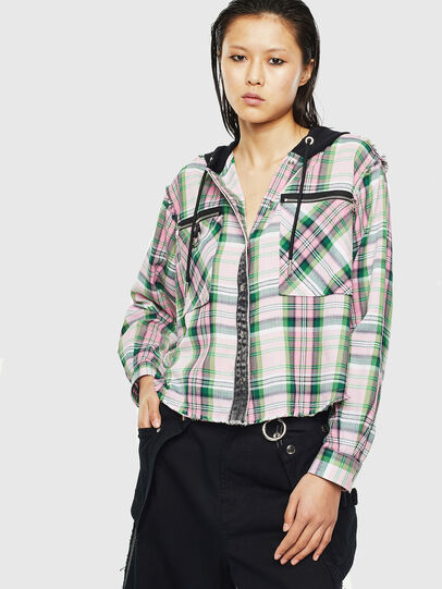 Diesel - C-ANGELS-HOOD, Green - Shirts - Image 1