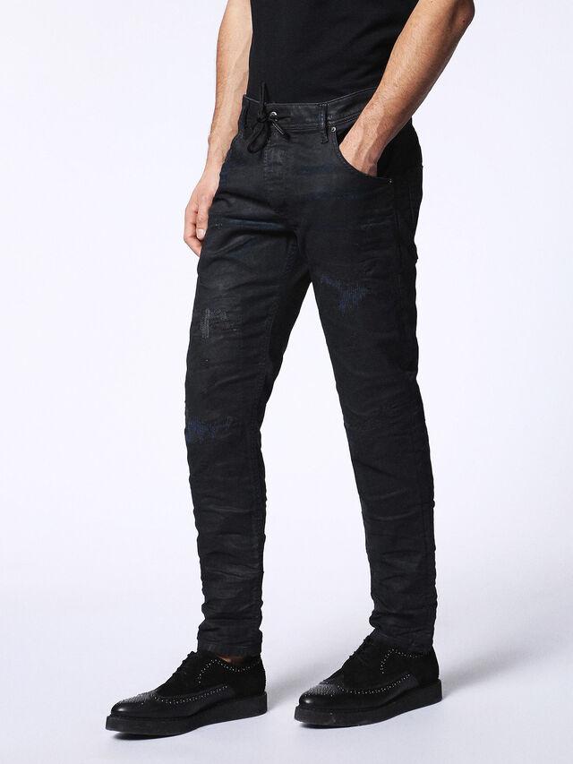 Diesel - KROOLEY CB JOGGJEANS 0680B, Black - Jeans - Image 7