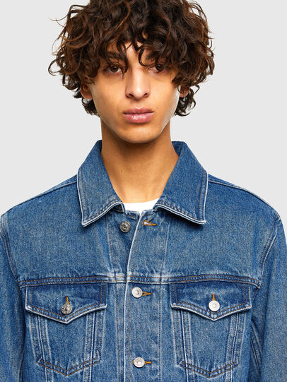Diesel - NHILL-C1, Medium blue - Denim Jackets - Image 5