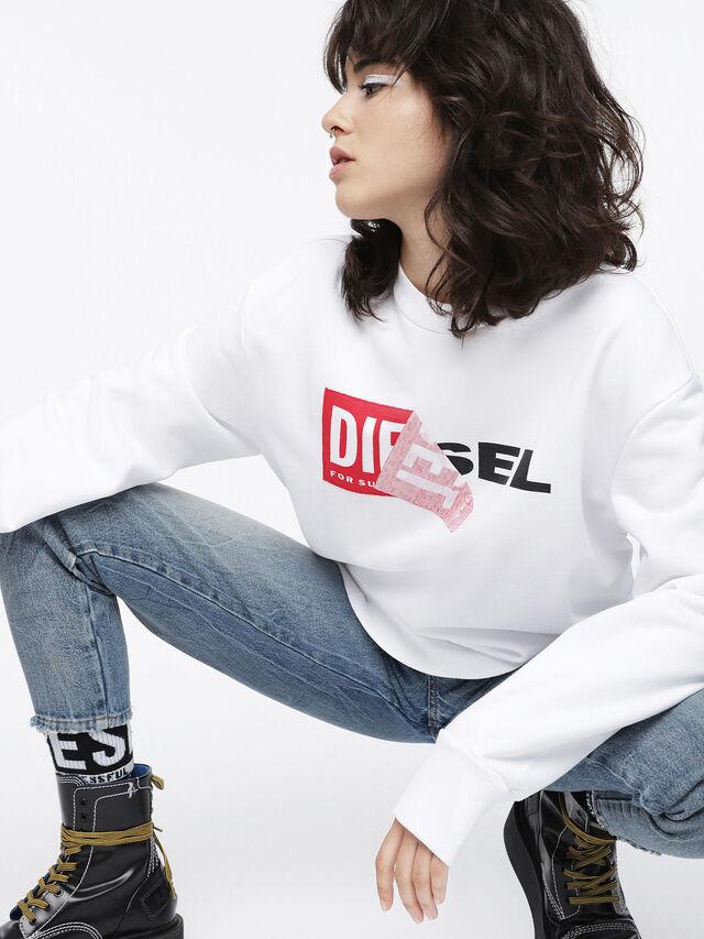 Diesel - F-SAMY-FL, White - Sweaters - Image 3