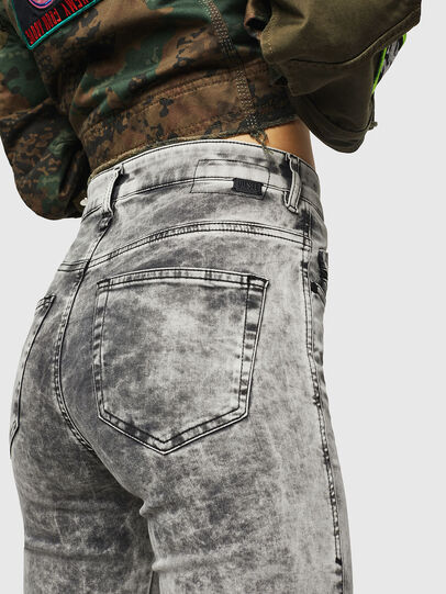 Diesel - Slandy High 069GQ, Light Grey - Jeans - Image 3