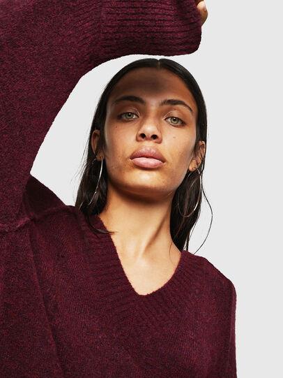 Diesel - M-NOELIA, Burgundy - Knitwear - Image 3