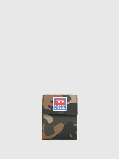 Diesel - HIRESH FD, Green Camouflage - Small Wallets - Image 1