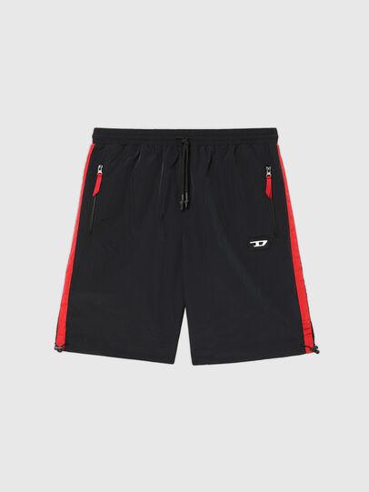 Diesel - UMLB-PANLEY, Black/Red - Pants - Image 1