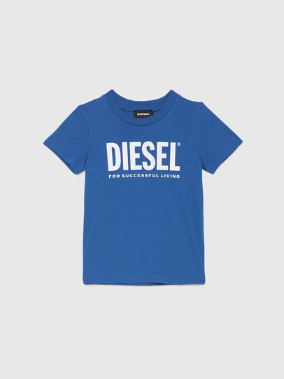 Diesel - TJUSTLOGOB-R, Blue - T-shirts and Tops - Image 1