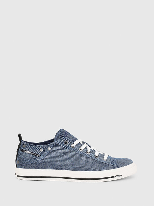EXPOSURE LOW I, Blue Jeans - Sneakers