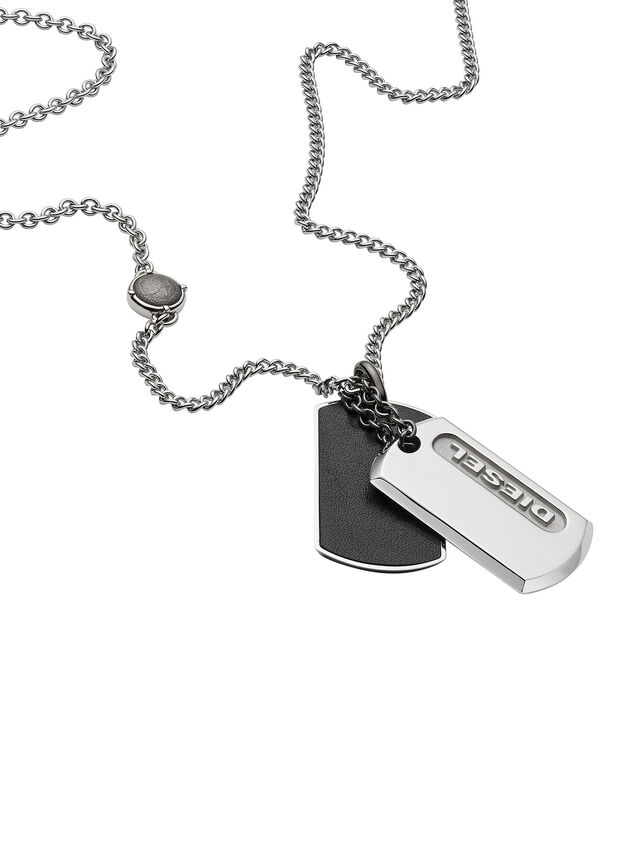 Diesel - NECKLACE DX0954, Silver - Necklaces - Image 2