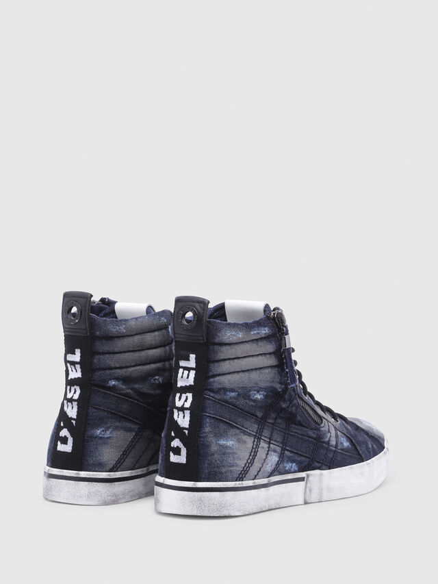 Diesel - D-VELOWS MID LACE, Black/Blue - Sneakers - Image 3