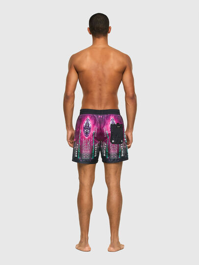 Diesel - BMBX-WAVE 2.017, Black/Violet - Swim shorts - Image 2