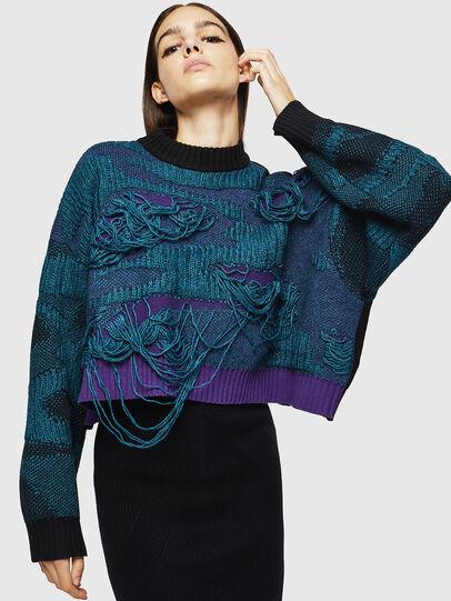 Diesel - M-KAM, Blue Marine - Knitwear - Image 4