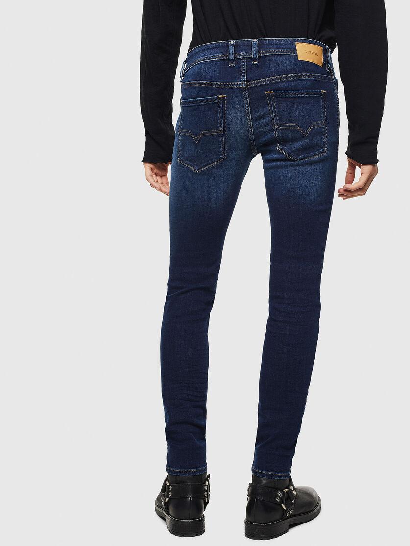 Sleenker 084ri Men Skinny Dark Blue Jeans Diesel