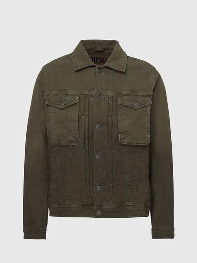 Diesel - D-YOGI-SP JOGGJEANS, Olive Green - Denim Jackets - Image 1