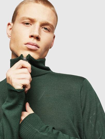 Diesel - K-ECLY, Dark Green - Knitwear - Image 3