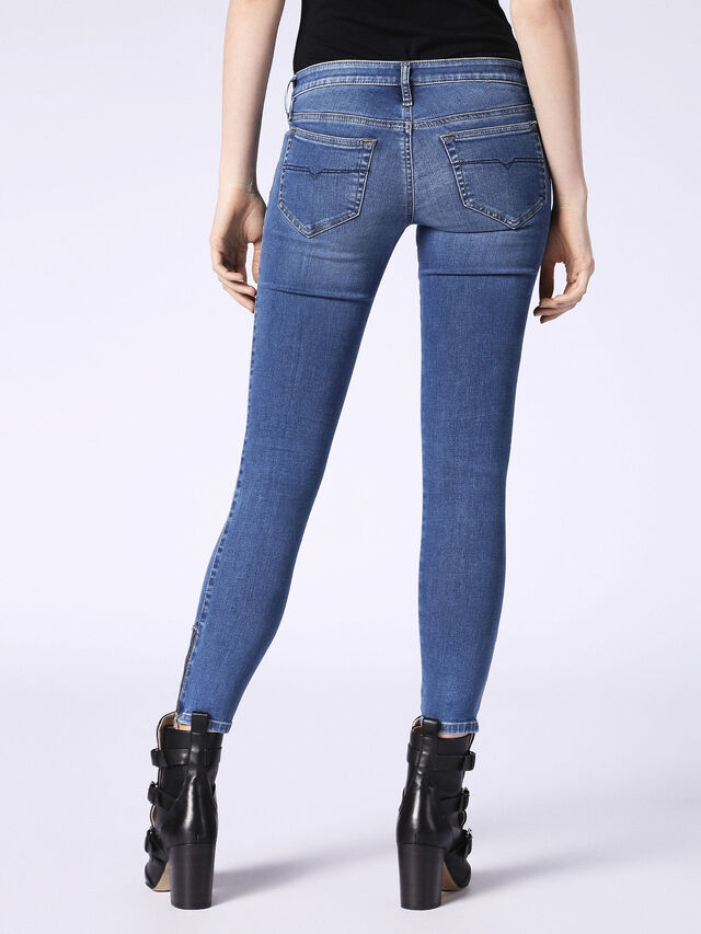 SKINZEE-LOW-ZIP 084NM, Blue Jeans