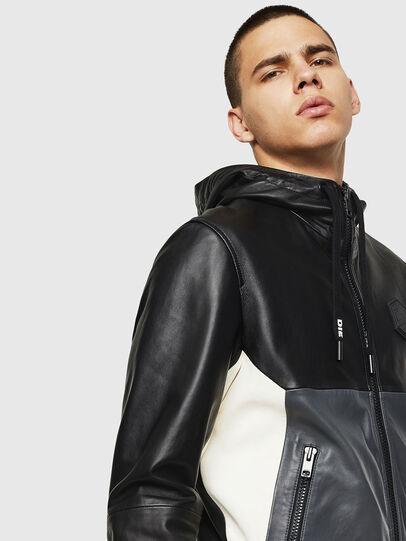 Diesel - L-CARR, Black - Leather jackets - Image 5