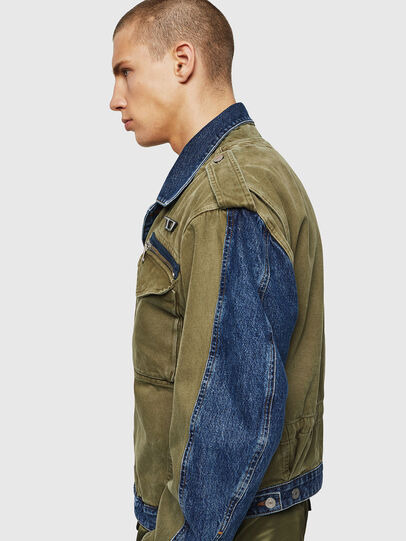 Diesel - D-MALLY, Blue/Green - Denim Jackets - Image 5