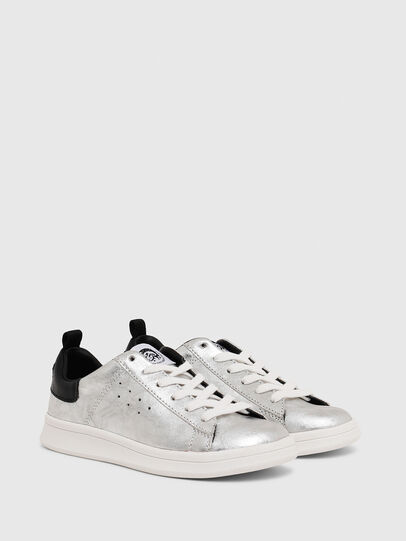 Diesel - SN LOW LACE 11 FULL, Silver/Black - Footwear - Image 2