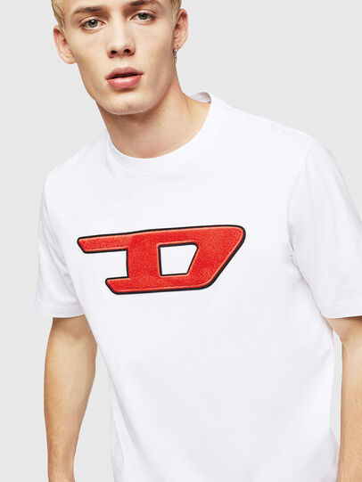 Diesel - T-JUST-DIVISION-D, White - T-Shirts - Image 3