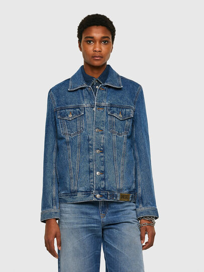 Diesel - NHILL-C1, Medium blue - Denim Jackets - Image 2