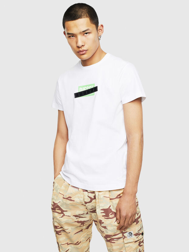 T-DIEGO-S7, White/Green - T-Shirts