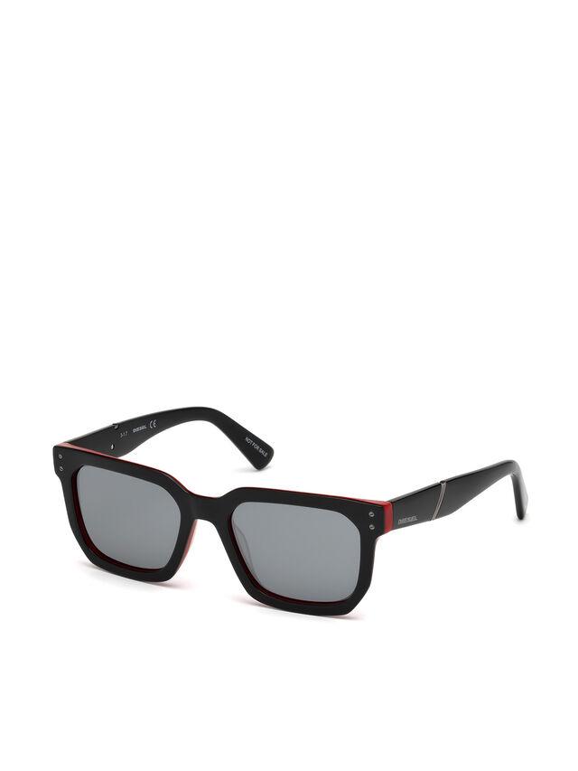 Diesel - DL0253, Black/Red - Eyewear - Image 4