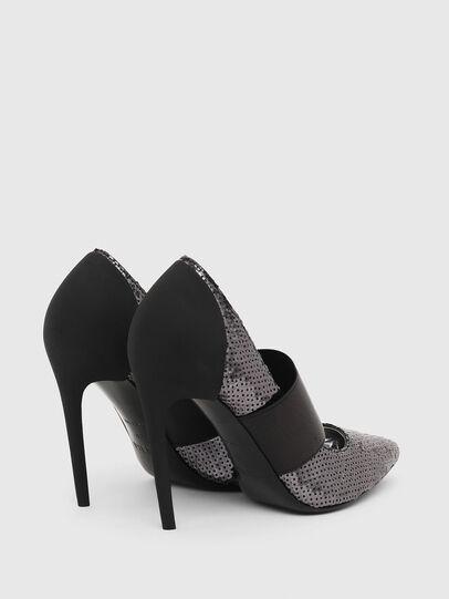 Diesel - D-SLANTY HHE, Black/Silver - Heels - Image 3