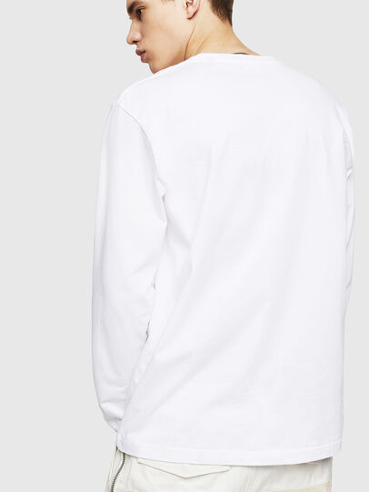 Diesel - T-JUST-LS-COPY, White - T-Shirts - Image 2