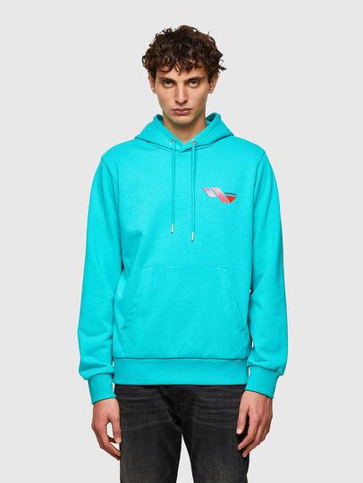 Diesel - S-GIRK-HOOD-K3, Azure - Sweaters - Image 1