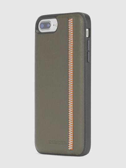 Diesel - ZIP OLIVE LEATHER IPHONE 8 PLUS/7 PLUS/6s PLUS/6 PLUS CASE,  - Cases - Image 3
