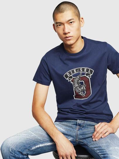 Diesel - T-DIEGO-B4, Blue - T-Shirts - Image 4