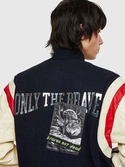 Diesel - L-COHEN, Blue/White - Leather jackets - Image 4