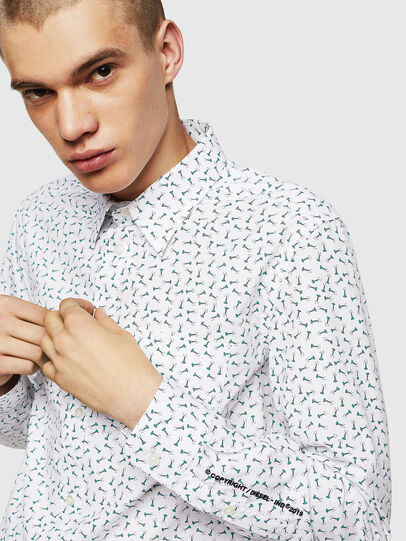 Diesel - S-VEN-NAIL, White - Shirts - Image 3