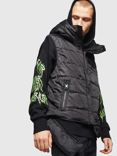 Diesel - W-SUN-REV-SLESS, Black - Winter Jackets - Image 4