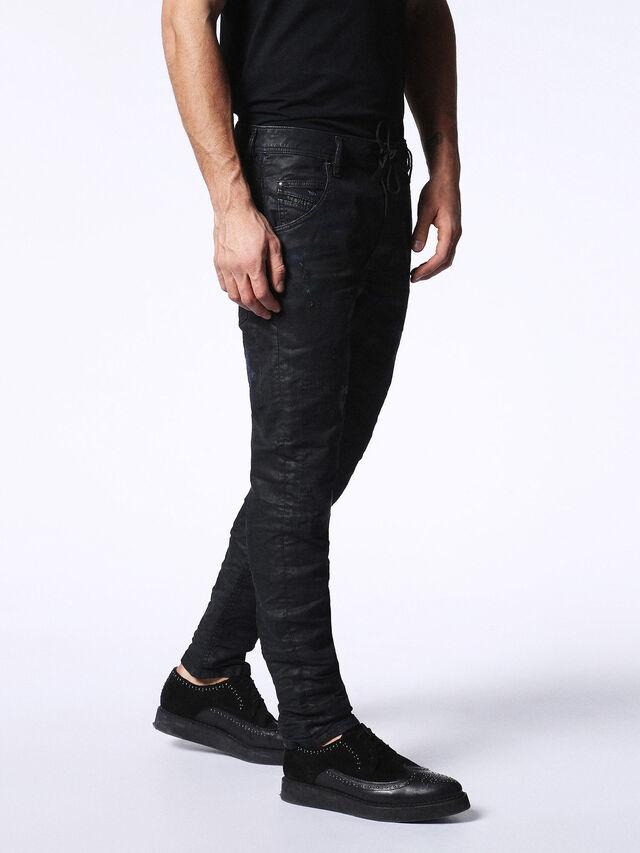 Diesel - KROOLEY CB JOGGJEANS 0680B, Black - Jeans - Image 6