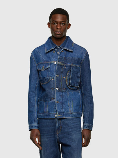 Diesel - D-COSNIL, Medium blue - Denim Jackets - Image 1