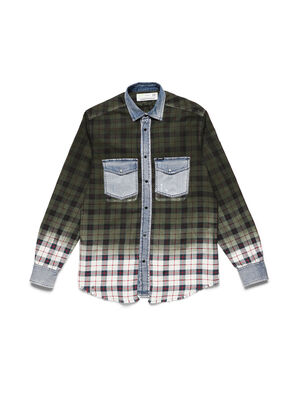 D-DEEPCHECK-B,  - Denim Shirts