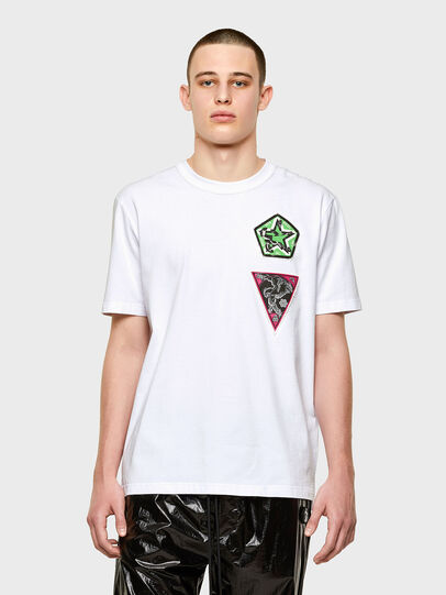 Diesel - T-JUBIND-SLITS-E1, White - T-Shirts - Image 1