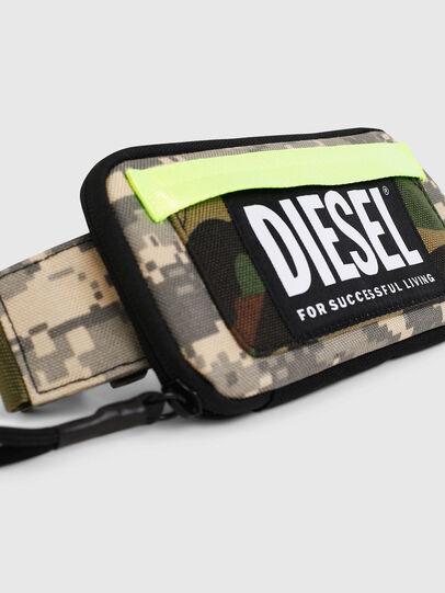 Diesel - BELT RUBBER CASE BIG, Green Camouflage - Continental Wallets - Image 5