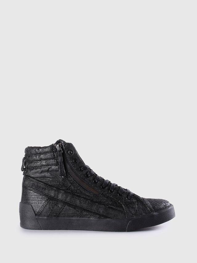 Diesel - D-STRING PLUS, Black Leather - Sneakers - Image 1
